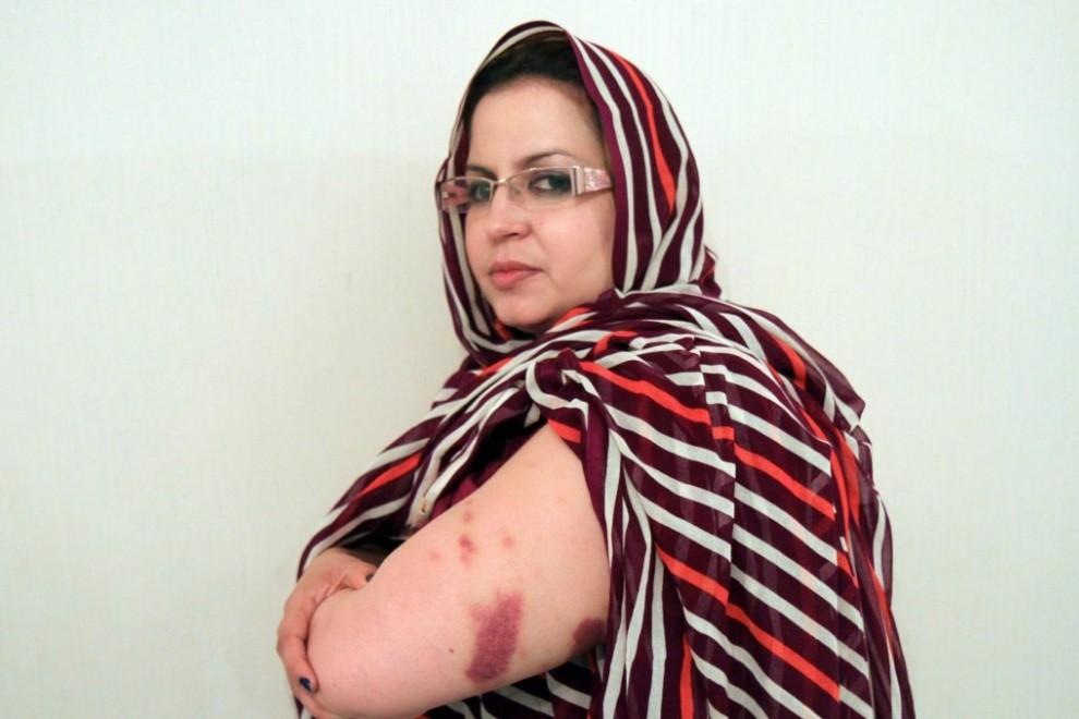 Sultana Khaya lleva más de cien días de arresto domiciliario en Bojador, en el Sahara Occidental ocupado por Marruecos, por su actividad política. Foto de el diario Público.