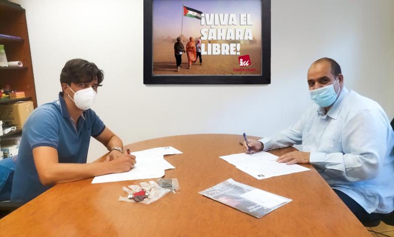 IUCyL pide protección a la activista saharaui Reunión con el el delegado de Pueblo Saharaui