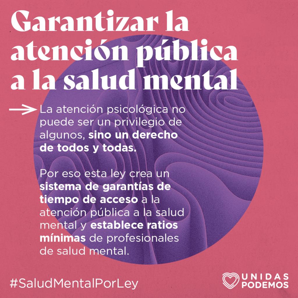 Ley de salud mental Unidas Podemos